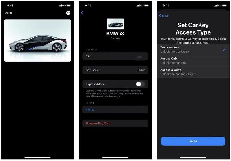 iOS CarKey功能截图曝光  宝马或将是首批合作伙伴
